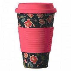 Чаша еко бамбук - Цветя