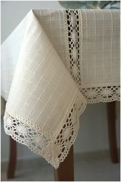 Покривка лен с вградени ленти