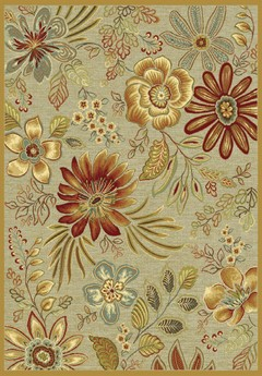 Килим Genova цветя бежова основа