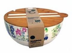 Купа за салата с прибори Бамбук