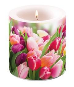 Свещ Glorious Tulips