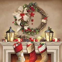 Салфетки Wreath And Socks
