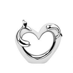 Статуетка сърце с делфин CN7238