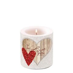 Свещ I love you