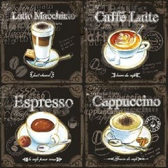 Салфетки Typpes Of Coffee