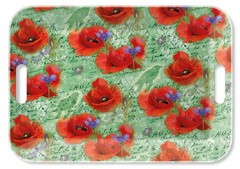 Поднос Painted Poppies Green