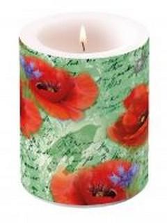 Свещ Painted Poppies