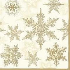 Салфетки  Snow Crystals Cream/Gold