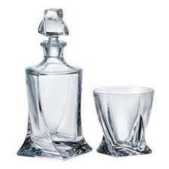 Гарафа с чаши за уиски QUADRO