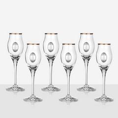 Чаши за ракия Invino сребърна плочка
