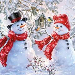 Салфетки Snowmen And Birds