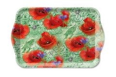 Поднос Ambiente Painted Poppies Green