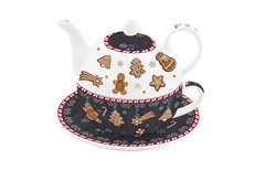 Комплект чаша, чинийка и чайник GINGERBREAD