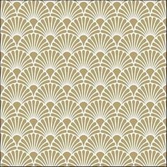 Салфетки Art Deco Gold/White