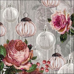 Салфетки  Roses and Baubles