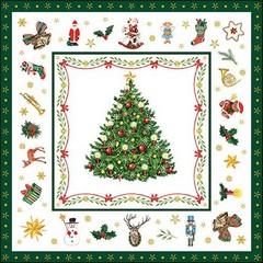 Салфетки  Christmas Evergreen white