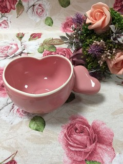 Чаша сърце розова