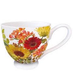 Чаша Ambiente Sunny Flowers Cream