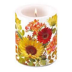 Свещ Ambiente Sunny Flowers Cream