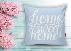 Декоративна калъфка HOME синя