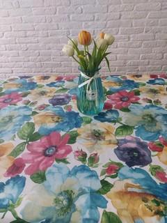 Покривка на метър пъстри цветя